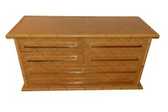 Bamboo Framed Commode, France, Mid Century
