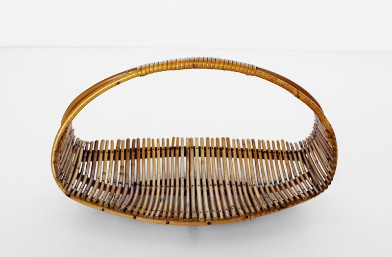 French Bamboo Fruit Basket For Sale