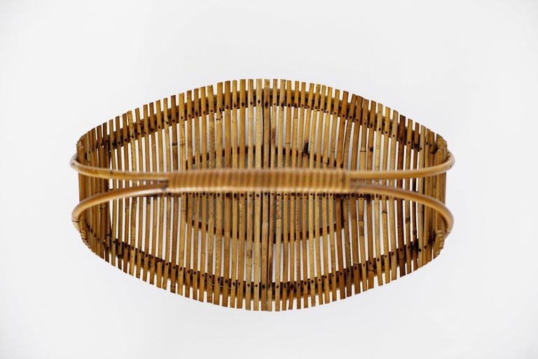 Bamboo Fruit Basket In Good Condition For Sale In Los Angeles, CA