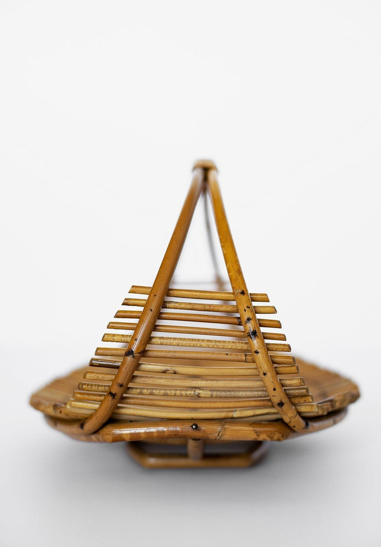 20th Century Bamboo Fruit Basket For Sale