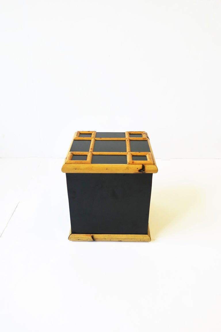 Bamboo Ice Bucket, circa 1960s In Good Condition For Sale In New York, NY