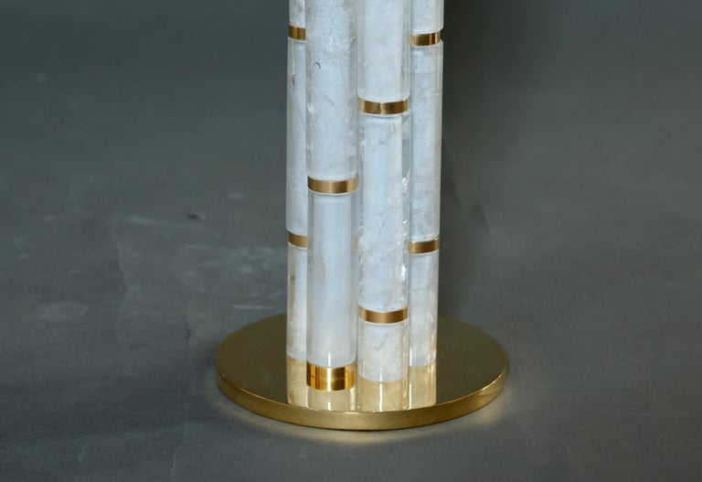 BAMBOO II Rock Crystal Quartz Lamps by Phoenix In Excellent Condition For Sale In New York, NY