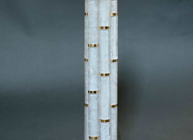 Contemporary BAMBOO II Rock Crystal Quartz Lamps by Phoenix For Sale