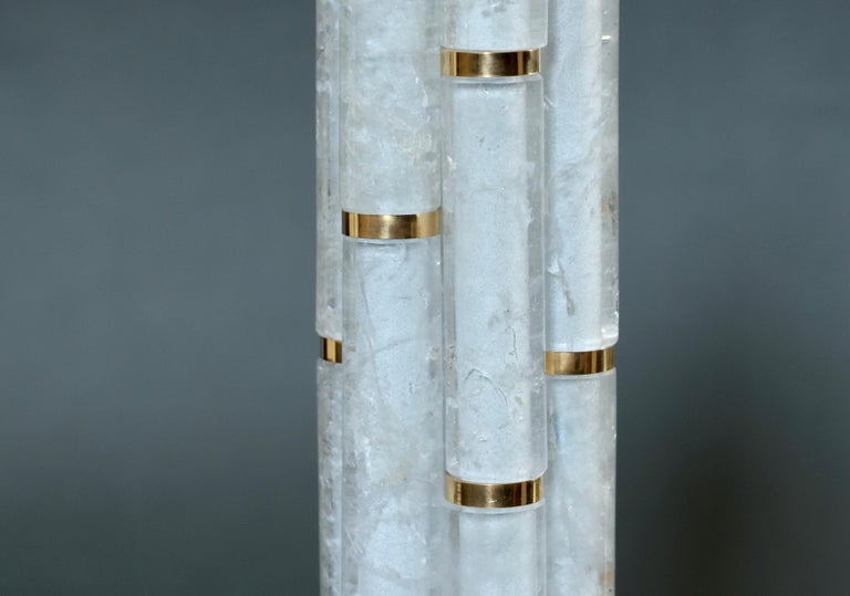 BAMBOO II Rock Crystal Quartz Lamps by Phoenix For Sale 1