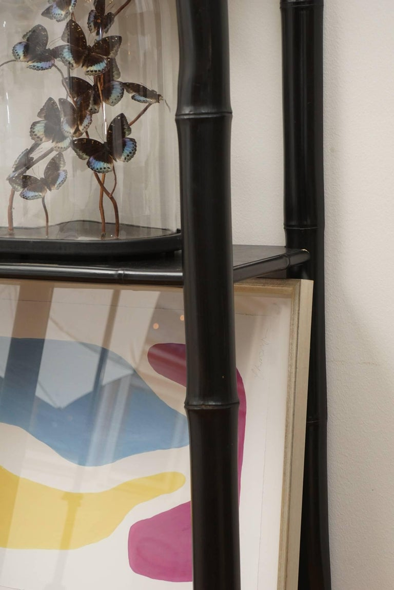 Bamboo Lacquered Bookcase For Sale 2