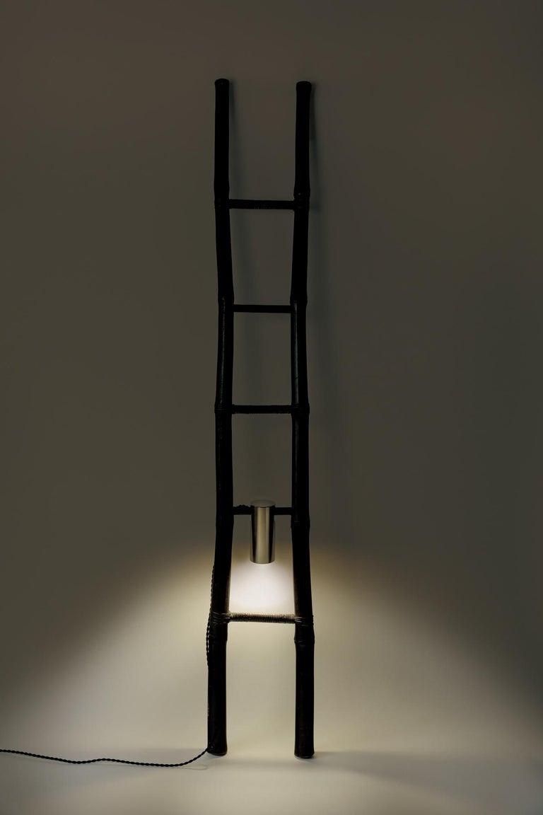 Japonisme Bamboo Ladder Light Ryosuke Harashima Contemporary Zen Japanese Craft Mingei For Sale