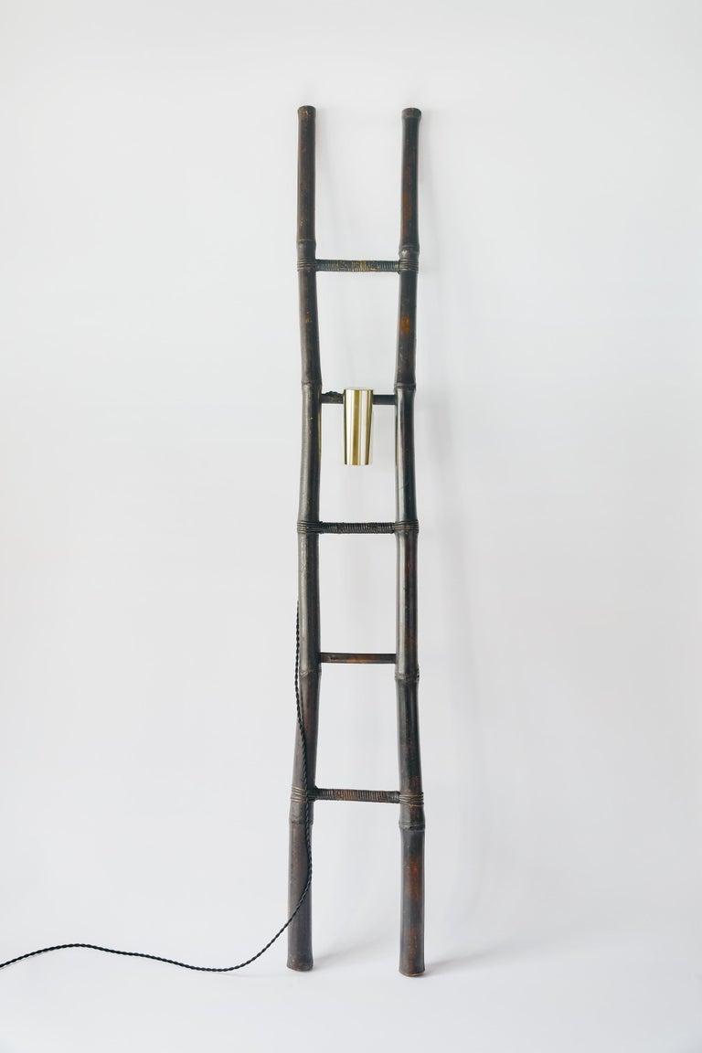 Bamboo Ladder Light Ryosuke Harashima Contemporary Zen Japanese Craft Mingei In New Condition For Sale In Shibuya-ku, Tokyo