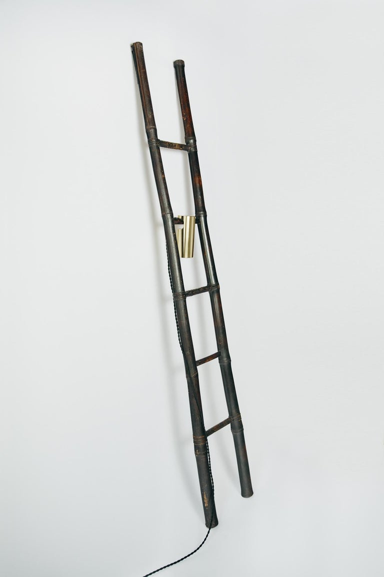 Brass Bamboo Ladder Light Ryosuke Harashima Contemporary Zen Japanese Craft Mingei For Sale