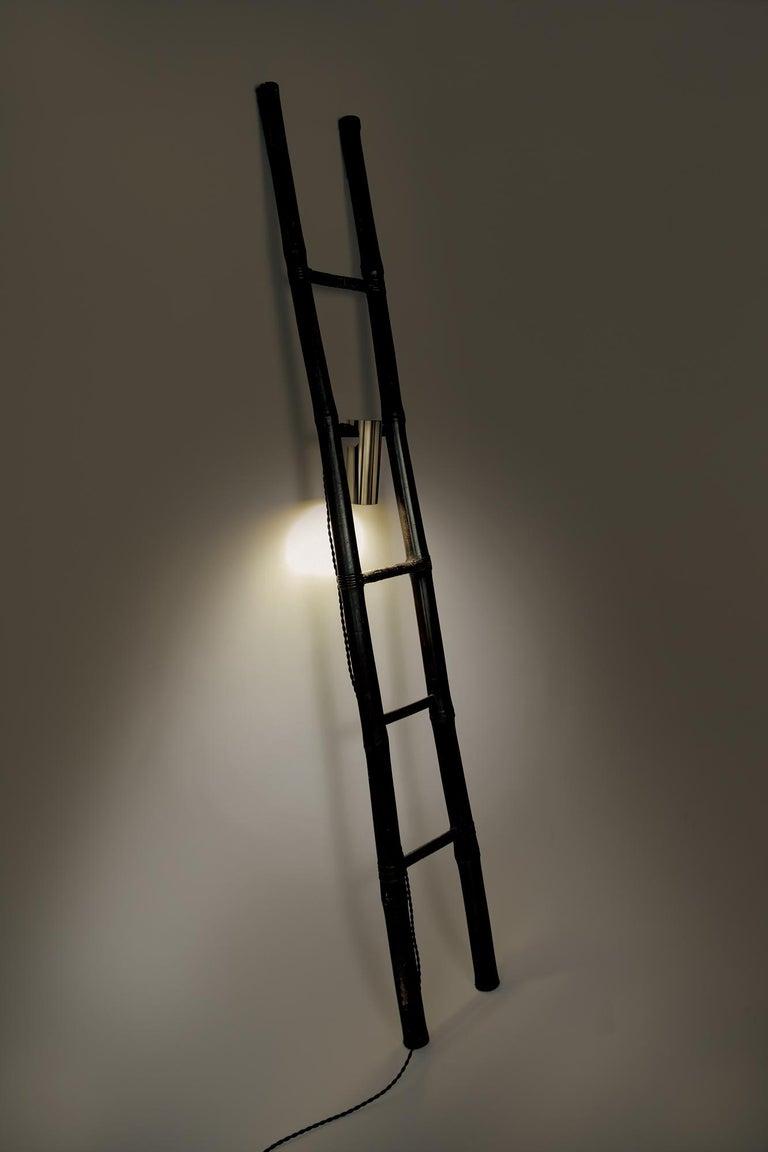 Bamboo Ladder Light Ryosuke Harashima Contemporary Zen Japanese Craft Mingei For Sale 1