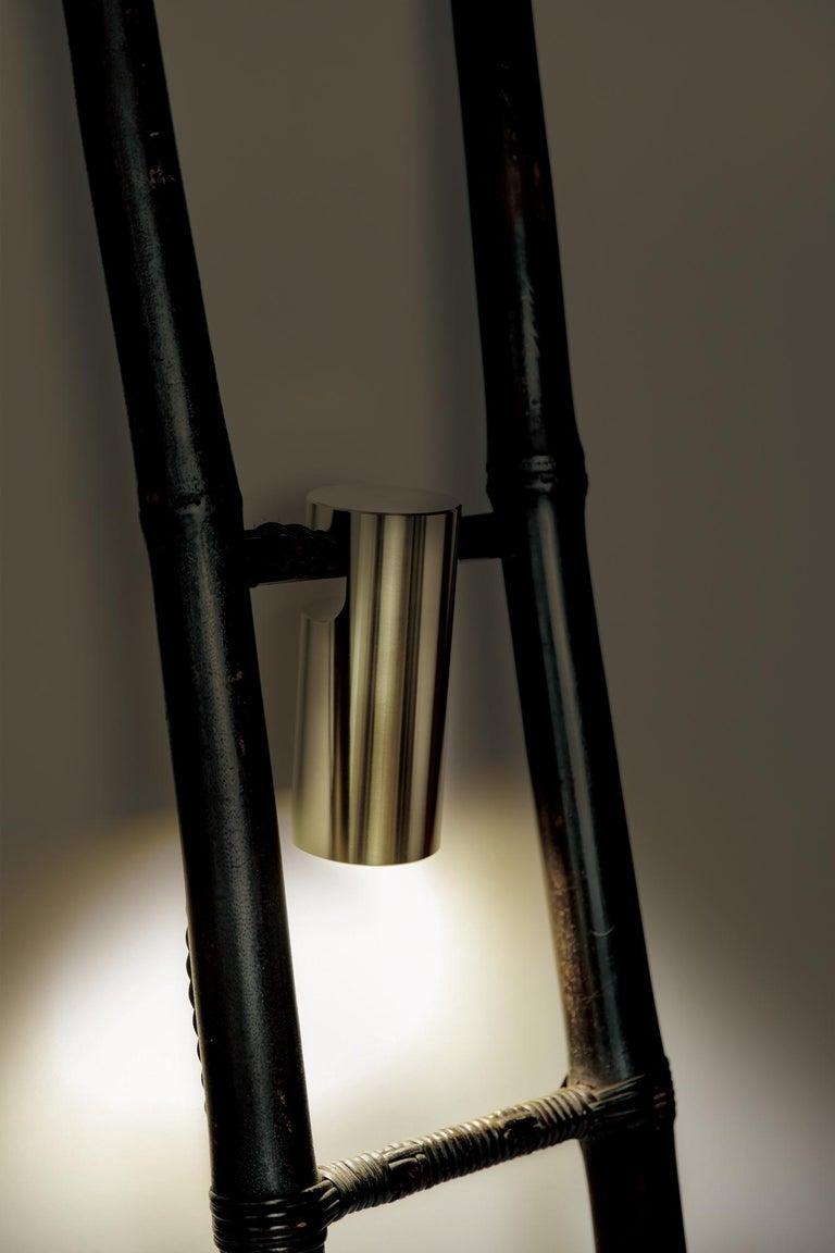 Bamboo Ladder Light Ryosuke Harashima Contemporary Zen Japanese Craft Mingei For Sale 2