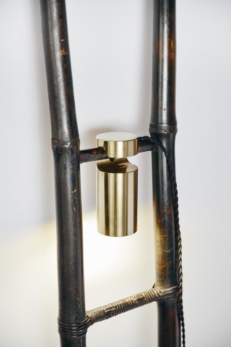 Bamboo Ladder Light Ryosuke Harashima Contemporary Zen Japanese Craft Mingei For Sale 3