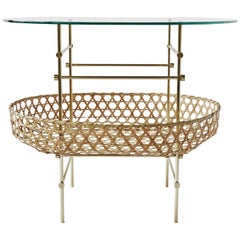 Bamboo Lattice Table Ryosuke Harashima Contemporary Zen Japanese Bamboo Basket
