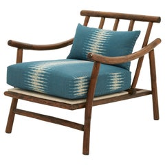 Bamboo Lounge Chair in the Style of John Wisner