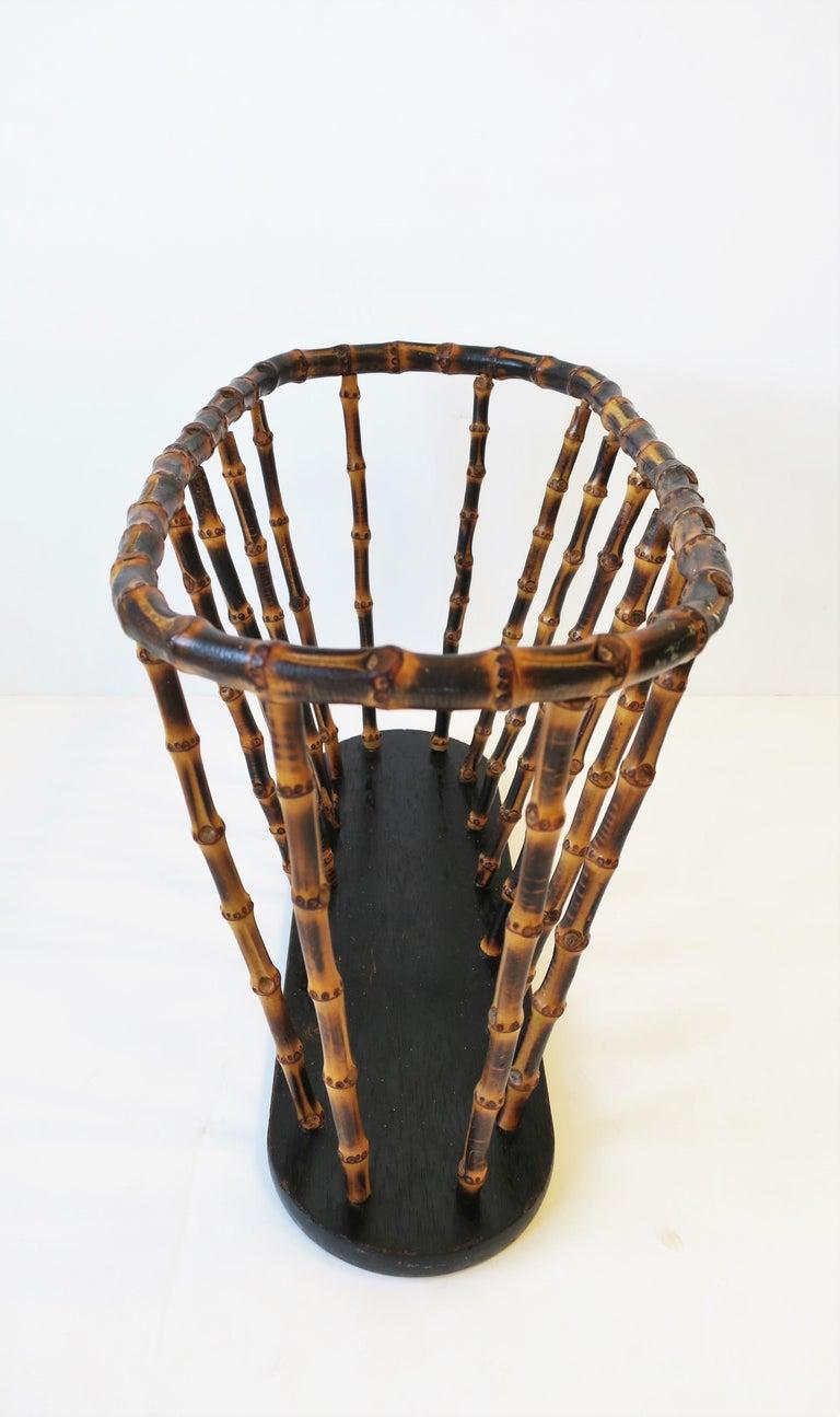Bamboo Magazine or Newspaper Holder Stand Rack Basket For Sale 4
