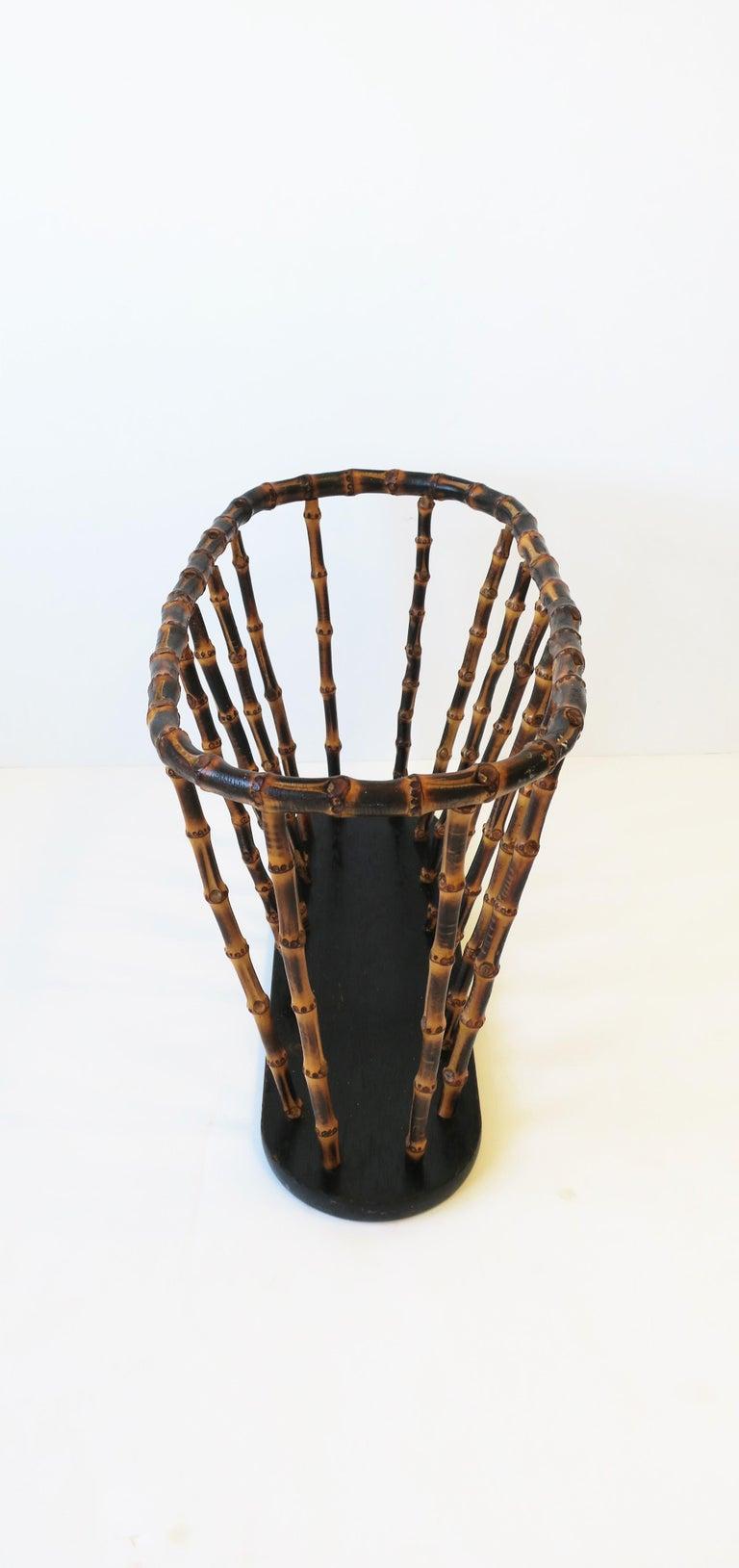 Bamboo Magazine or Newspaper Holder Stand Rack Basket For Sale 3