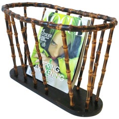Bamboo Magazine or Newspaper Holder Stand Rack Basket