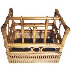 Bamboo Magazine Rack Midcentury
