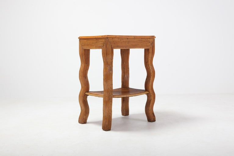 Hollywood Regency Bamboo Occasional Table by Vivai del Sud For Sale