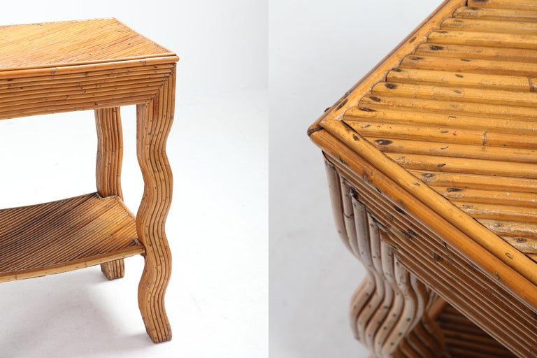 Late 20th Century Bamboo Occasional Table by Vivai del Sud For Sale