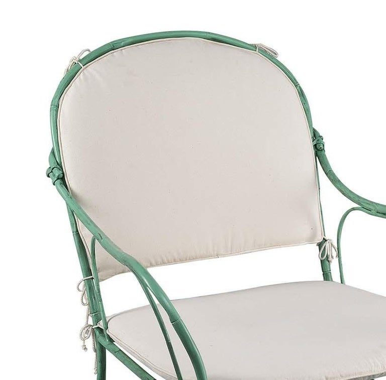 Part of the Bamboo Collection, this stunning armchair will be an elegant and timeless addition to a veranda, poolside, or terrace especially when combined with the other pieces in the same series. The chair's refined curves and slender elements are