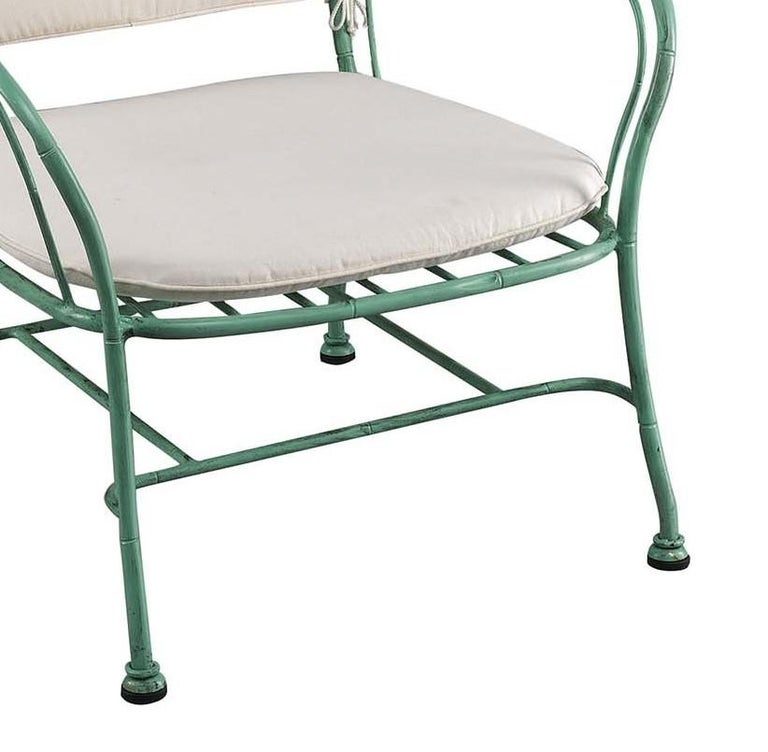 Italian Bamboo Outdoor Armchair by Officina Ciani For Sale