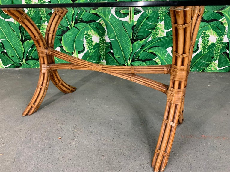 Bamboo Pagoda Dining Set by McGuire For Sale 3