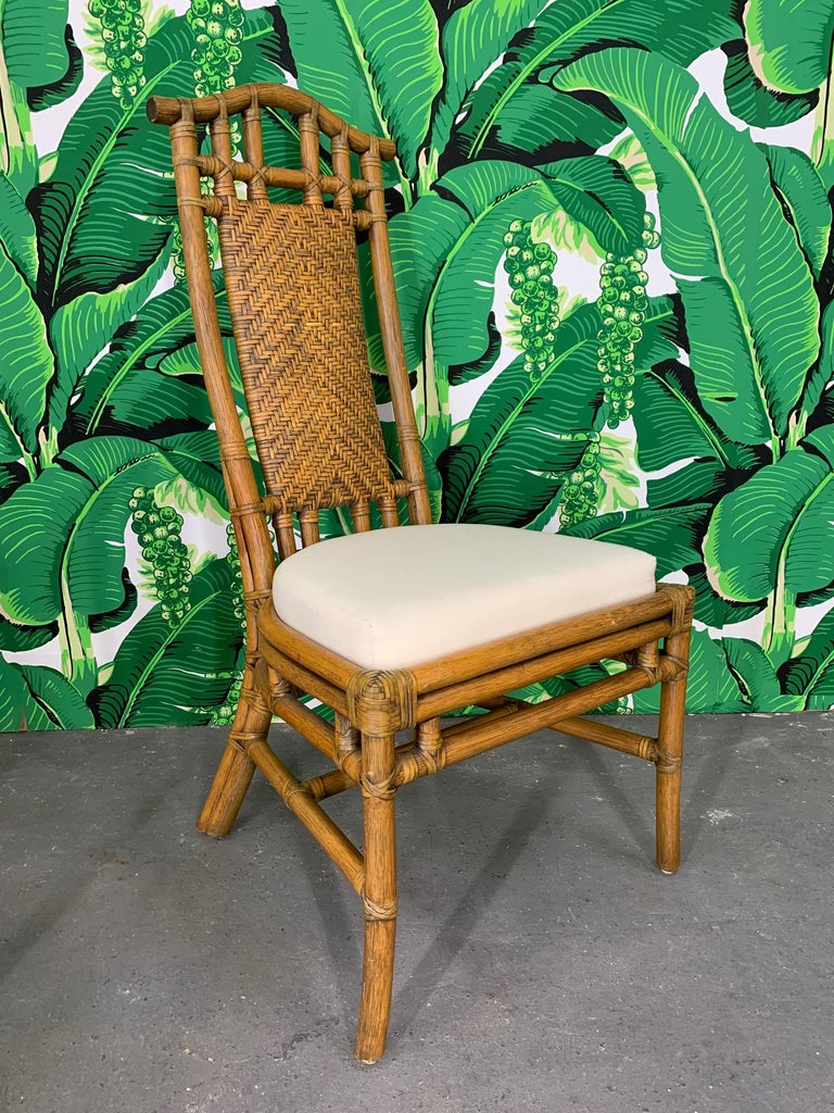 American Bamboo Pagoda Dining Set by McGuire For Sale