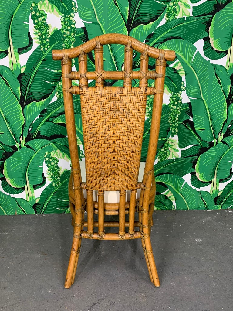 Late 20th Century Bamboo Pagoda Dining Set by McGuire For Sale