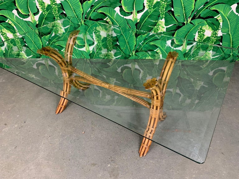 Bamboo Pagoda Dining Set by McGuire For Sale 2