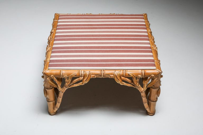 Bamboo Pair of Ottoman, Arpex, Italy, 1970s 4
