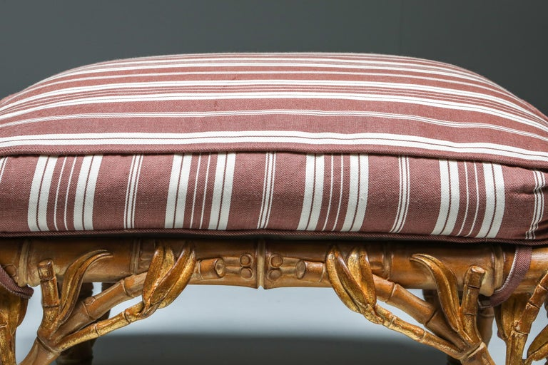 Bamboo Pair of Ottoman, Arpex, Italy, 1970s 5