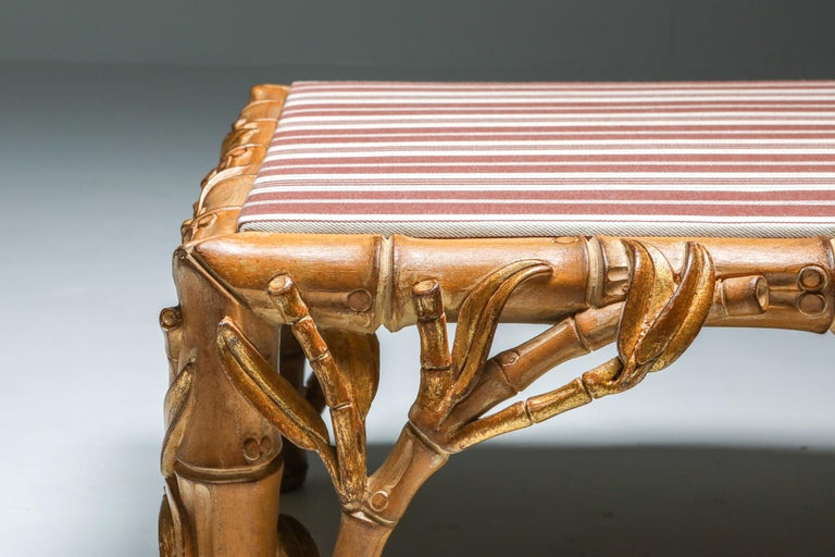 Bamboo Pair of Ottoman, Arpex, Italy, 1970s 6