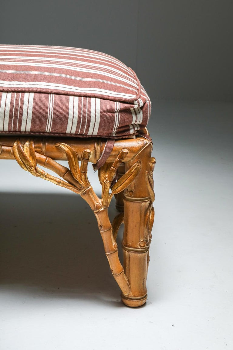 Bamboo Pair of Ottoman, Arpex, Italy, 1970s 7