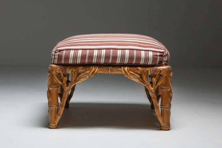 Bamboo Pair of Ottoman, Arpex, Italy, 1970s 1