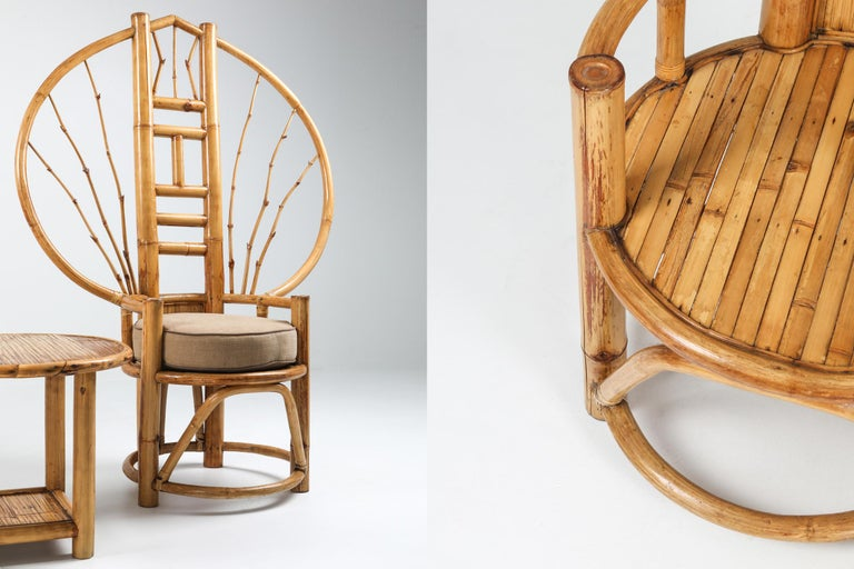 Bamboo Peacock Chairs in the Style of Albini 5