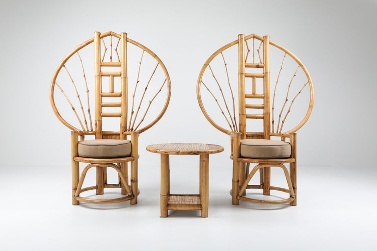 Bamboo Peacock Chairs in the Style of Albini 2