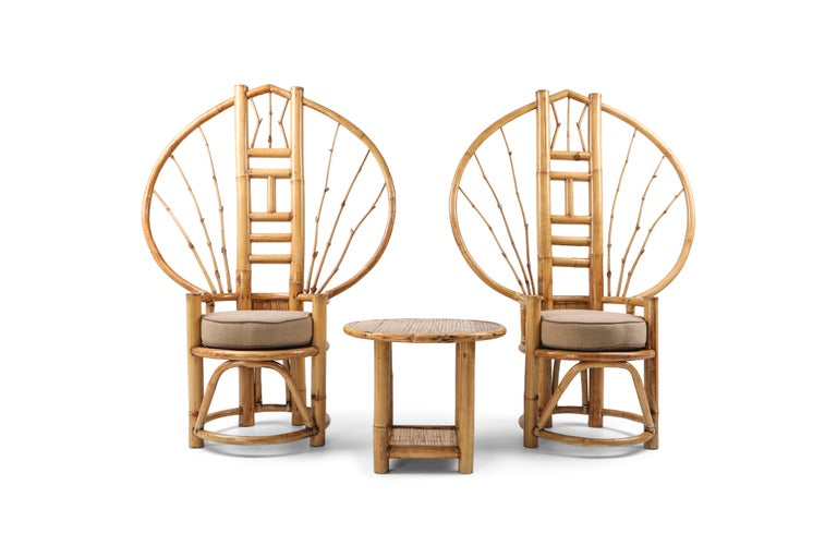 Bamboo Peacock Chairs in the Style of Albini 3