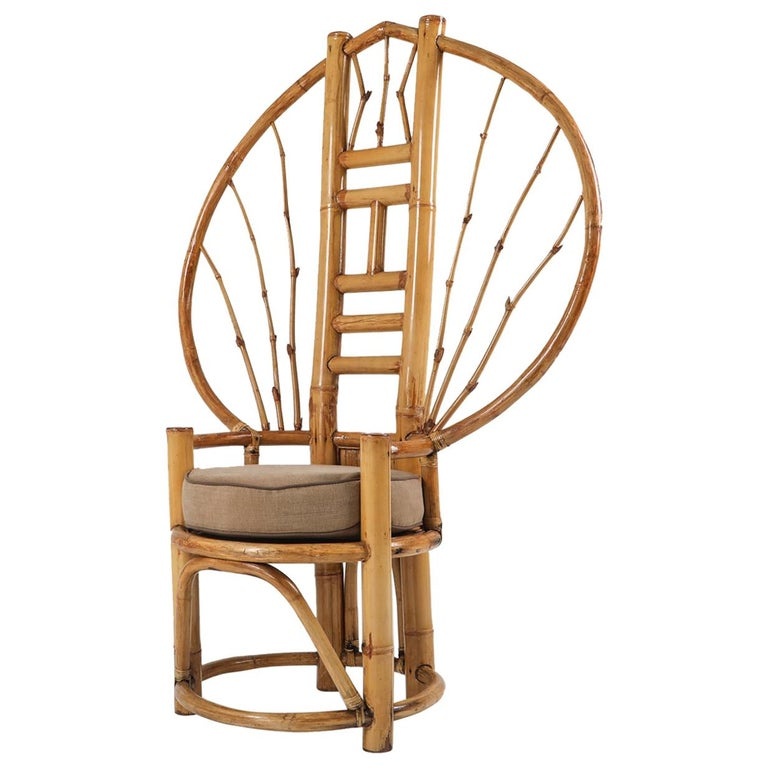 Bamboo Peacock Chairs in the Style of Albini