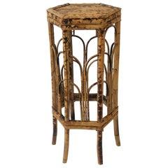 Bamboo Pedestal Column Table