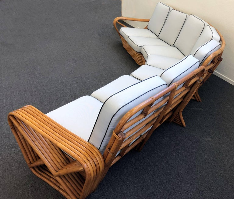 Frank Sectional Sofa Bed: Bamboo Pretzel Sectional Sofa By Paul Frankl At 1stdibs