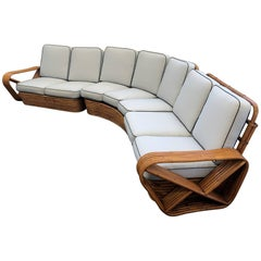 Bamboo Pretzel Sectional Sofa by Paul Frankl