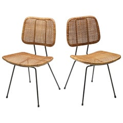 Bamboo Rattan 1950s Dining Chair