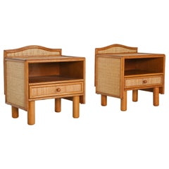 Bamboo and Rattan Bed Side Tables Vivai del Sud