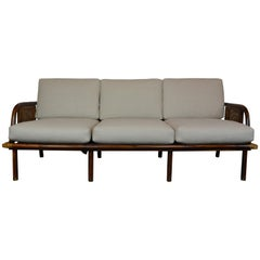 Bamboo Rattan Sofa by Ficks Reed, circa 1950