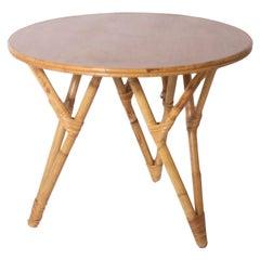 Bamboo Round Table, circa 1960