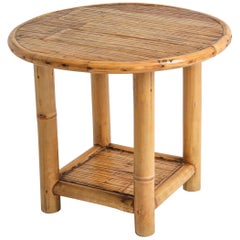 Bamboo Side Table, 1970s