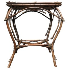 1940s English Bamboo Side Table