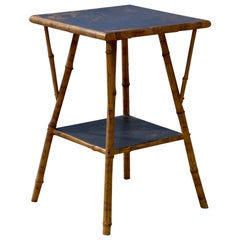 Bamboo Side Table in the British Colonial Taste