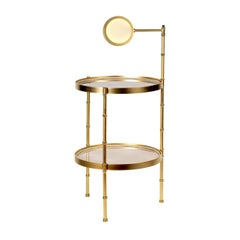 Bamboo Side Table with Lamp by Antonio Ciulli & Figlio