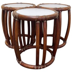 Bamboo Side Tables / Garden Stools by McGuire Furniture Co. of San Francisco